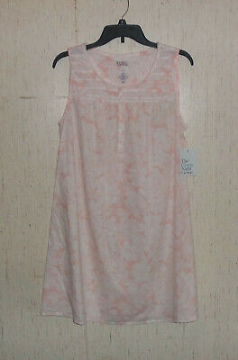 NWT WOMENS Croft & Barrow PINK & WHITE FLORAL PRINT COTTON NIGHTGOWN   SIZE S