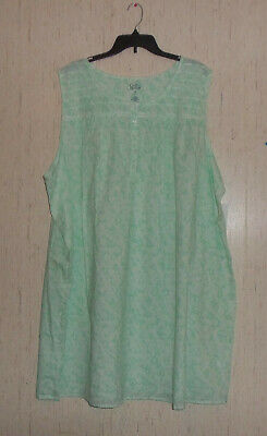 NWT WOMENS Croft & Barrow MINT GREEN W/ PINEAPPLES COTTON NIGHTGOWN   SIZE 4X