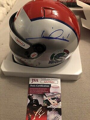 Autographed Mario Andretti Official Mini Racing Helmet JSA Certified Signed