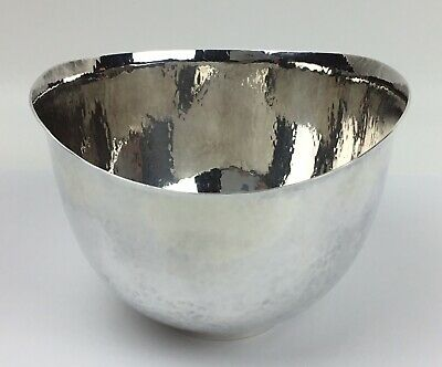 Hammered Silver Bowl By Eric Lofman - MEMA L - 830 Silver - No Monogram