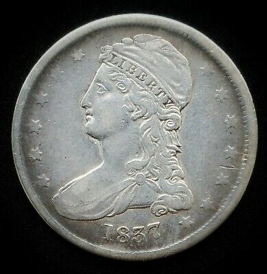 1837 Capped Bust Dollar | *Silver*  -Very Fine-   *175
