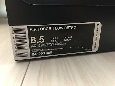 Air Force 1 Hong Kong Size 8.5 pre-owned worn once Forrest Green