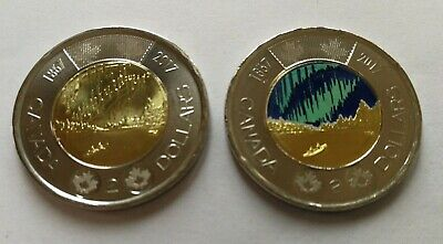 2017 Canada Regular and Coloured Dance Toonies $2 Uncirculated from Roll