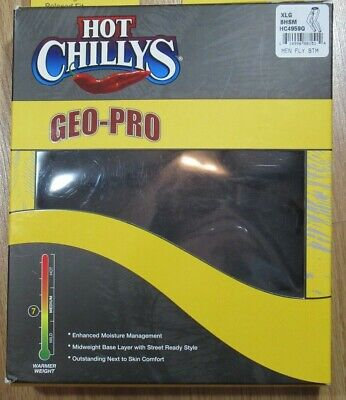 Hot Chillys Mens Size XL Black Medium Weight 7 UPF 30+ Fly Front Bottoms NEW