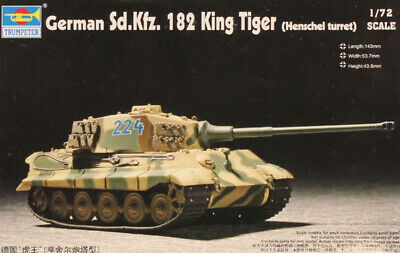 07291 TRUMPETER 1//72 GERMAN Sd.Kfz 182 KING TIGER Henschel turret w//Zimmerit.