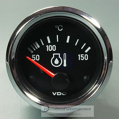 VDO ÖL TEMPERATURANZEIGE 150° *CHROME EDITION*  OIL GAUGE 12V 52mm Cockpit int.