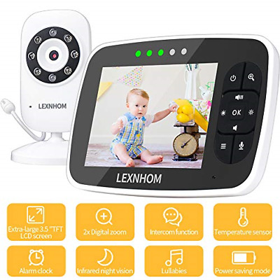 """LEXNHOM Video Baby Monitor with Camera and Audio, 3.5"""" Large LCD Screen Infrared"""