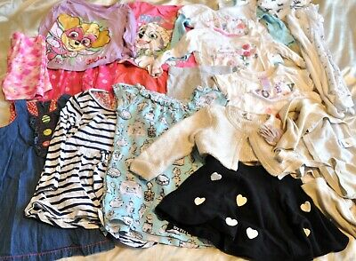 20 Pcs Baby Girls Clothes Bundle Size 18-24 Months 1.5-2 Years  Inc Paw Patrol