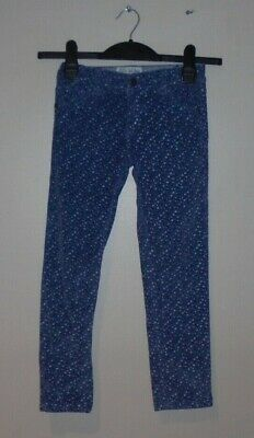 Fat Face Girls Stylish Floral Fine Cord Jeans Trousers Age 7 Years