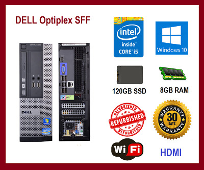 Dell Optiplex 3010 Desktop PC i5 3470 QUAD 3.2GHz 8GB 120GB SSD HDMI Win10 WIFI