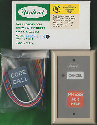 New Rauland-Borg Responder III PBS113 Push For Help / Code Call, Nurse Call Sta