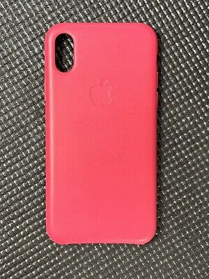 Apple custodia iPhone X in pelle - pink Fuchsia