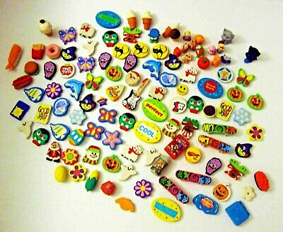 Eraser Collection Lot of 100 Pieces ~ Animals Food Holidays Teachers