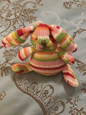Baby Boo Knitted Rabbit Rattle