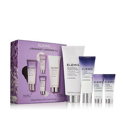 ELEMIS Radiant-Looking You Gift Set Peptide4 Day Pillow Mask Cleanser Worth £118