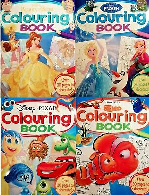 Disney Pixar Colouring Books RRP £3.99 Finding Nemo/Beauty/Princess/Frozen Gift