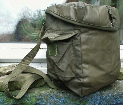 British Army Gas-mask haversack respirator bag 72 patt olive green SAS PARA S6
