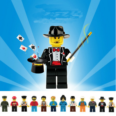 12 New Lego People Lot Minifigure City Town Mixed Set Blocks Figures Series Gift