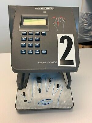 Ingersoll Rand/Schlage Hand Punch 1000-E Biometric Time Clock, 3 Avail