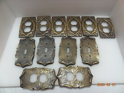 Vintage Brass Wall Outlet and Light Switch Cover SA Lot Of 12