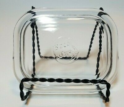 Vintage Beco Ware Clear Glass  Refrigerator Dish  Replacement Lid Small