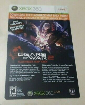 FAST DELIVERY! Xbox LIVE 48 Hour Gold Trial - Gears of War 2 Flashback Map Pack