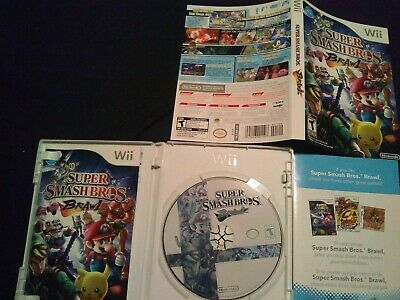 Super Smash Bros. Brawl for Nintendo Wii Complete with manual