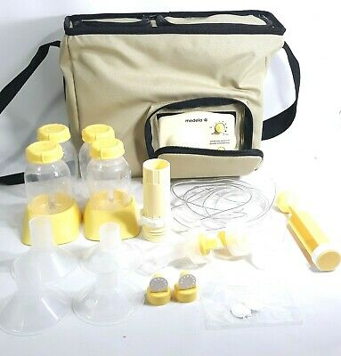 Medela Advanced Personal Double Breast pump & Cooler Shoulder Tote Bag