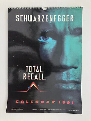 Total Recall Movie Calendar 1991 Schwarzenegger Unused Great Condition