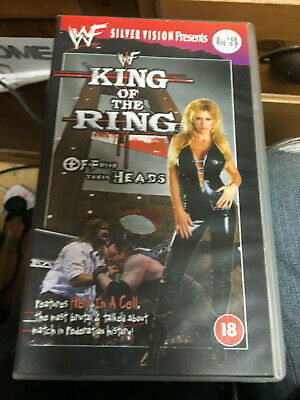 Wwf King Of The Ring Off With Their Heads Scarce  Vhs Pal Video Free Postage