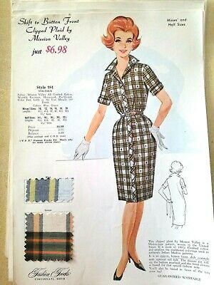 Vintage Fashion Frocks Cincinnati, Ohio Fashion Sales Advertisements Swatches