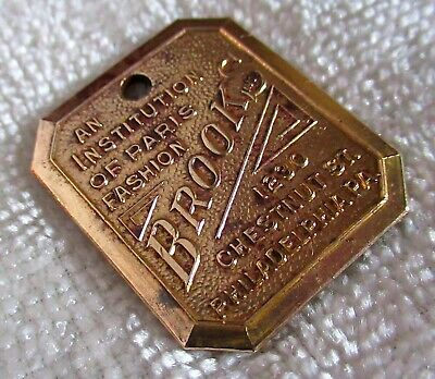 Brooks Dept Store Charge Coin Tag Credit Plate Token Badge Tab Fob Philadelphia