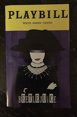 Special! Beetlejuice Broadway January 2020 Exclusive Playbill with Lydia Deetz
