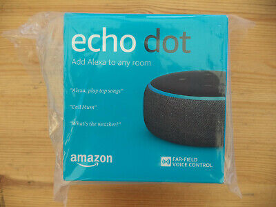 Amazon Echo Dot 3rd Generation Smart Speaker with Alexa - Charcoal New & Sealed