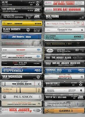 ROCK Cassette Tapes BOB DYLAN NEIL YOUNG TOM PETTY ERIC CLAPTON HALL AND OATES