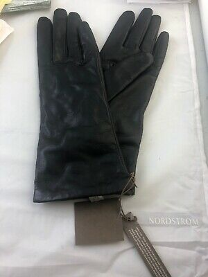 Nordstrom Italian Nappa Leather Gloves Size 7 1/2 Cashmere Lining TAGS
