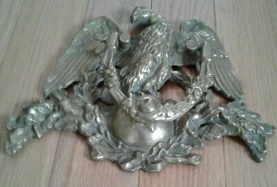 LARGE VINTAGE ANTIQUE  Solid BRASS  AMERICAN EAGLE DOOR KNOCKER  L@@K
