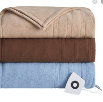 alcove Microfleece Electric Heated Blanket - Full - Size: Full, Color: Blu