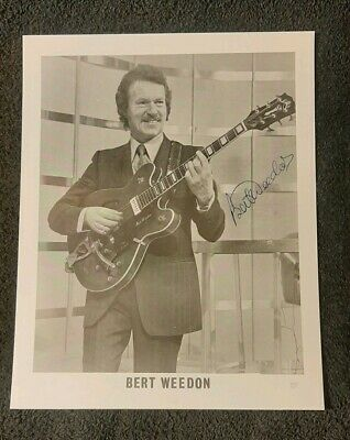 BERT WEEDON Guild guitar genuine autographed signed black & white photograph