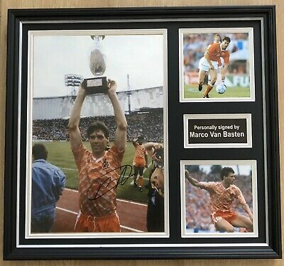 Marco Van Basten Hand Signed Bespoke Framed Holland Football Display
