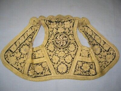 Antique Folk Ethno Traditional Handmade City Serbian Women's Vest METAL THREAD !