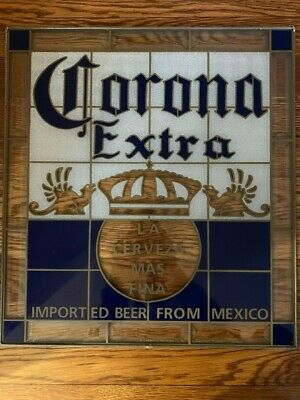 """Corona Extra """"Imported Beer From Mexico"""" stained glass wall art decor"""