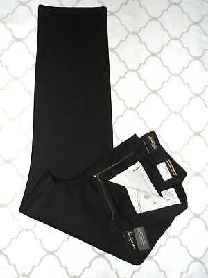 Nwt Lee Classic Fit/Straight Leg/Flexible Waistband Pants Womens Sz 16M~Black