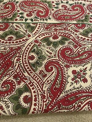 "April Cornell Paisley Table Runner 13"" x 72"" EUC"