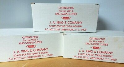 3 New! J.A. King Part no. 362 Sample cutter pads works with J.A. King 688 cutter