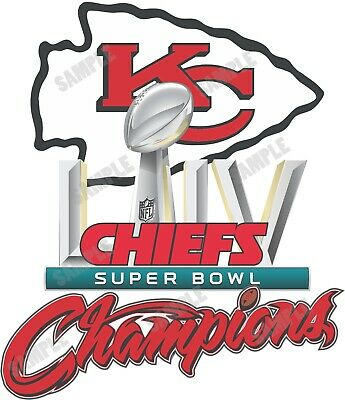 Kansas City Chiefs Super Bowl LIV 54 Champions  Decal / Sticker