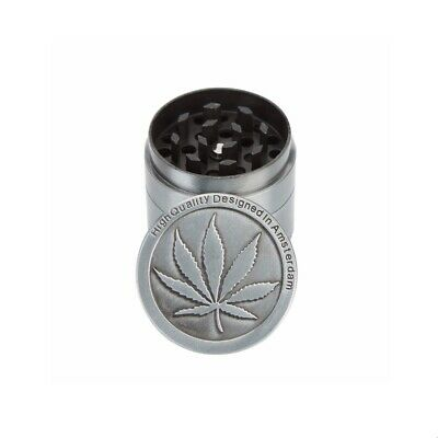 Leaf Design Zinc Alloy 4 Layer 40mm Spice Herb Grinder w/ Scraper