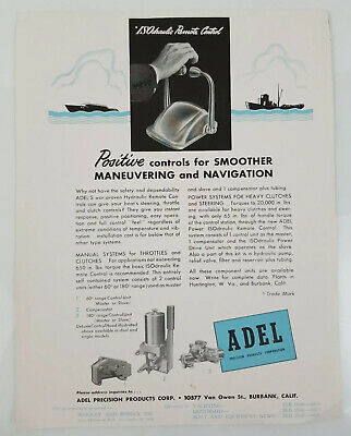 1946 Adel Precision Products Corp. ISOdraulic Remote Control Advertisement