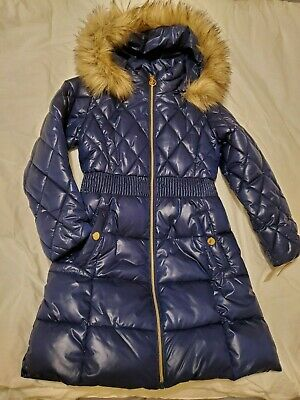 Michael Kors girls parka puffer jacket size 7/8 medium length , New with tags