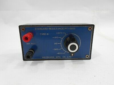 Mayekawa D type Strandrad PT100Ω 0c to -60c / 0c to +40c Resistance Decade Box